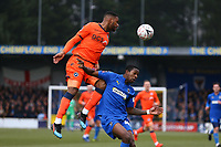 Mahlon Romeo of Millwall and Michael Folivi of AFC Wimbledon during AFC Wimbledon vs Millwall, Emirates FA Cup Football at the Cherry Red Records Stadium on 16th February 2019