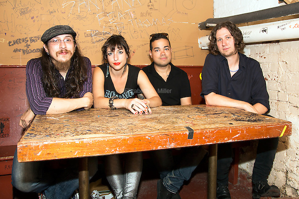Kalen and The Sky Thieves perform at the Mercury Lounge in New York City on August 20, 2014.