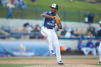 West Michigan Whitecaps relief pitcher Felix Viloria (12) in action against the South Bend Cubs at Fifth Third Ballpark on June 10, 2018 in Comstock Park, Michigan. The Cubs defeated the Whitecaps 5-4.  (Brian Westerholt/Four Seam Images)