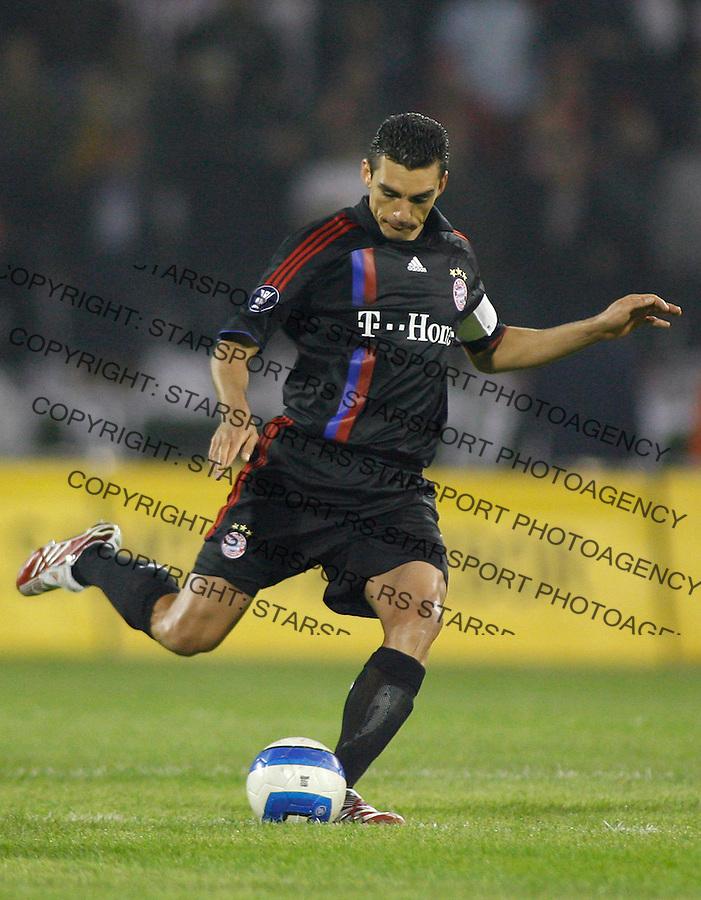 Fudbal, UEFA Cup,Group F.Crvena Zvezda Vs. Bayern Munich.Lucio.Beograd, 25.10.2007..foto: Srdjan Stevanovic