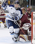Mike Hamilton, Cory Schneider (Pat Gannon) - The Boston College Eagles defeated the University of Maine Black Bears 4-1 in the Hockey East Semi-Final at the TD Banknorth Garden on Friday, March 17, 2006.