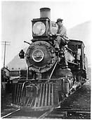 D&amp;RG locomotive #160 built in 1882.<br /> D&amp;RG  Silverton, CO  1914