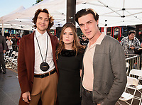 HOLLYWOOD, CALIFORNIA - DECEMBER 4: (L-R) Cody Fern, Billie Lourd and Finn Wittrock attend a ceremony honoring Ryan Murphy with a star on The Hollywood Walk of Fame on December 4, 2018 in Hollywood, California. (Photo by Frank Micelotta/Fox/PictureGroup)