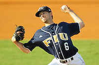 2 April 2008: Florida International's Corey Polizzano (6) pitches in the first inning of the FIU game against the University of Miami at University Park Stadium in Miami, Florida.