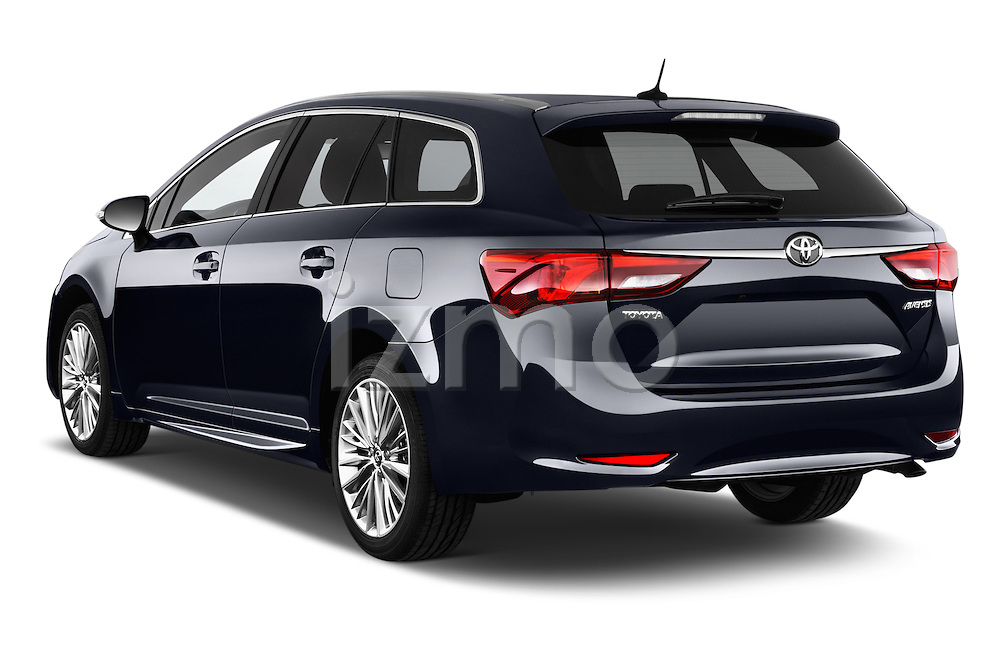 Car pictures of rear three quarter view of 2015 Toyota Avensis Business Executive 5 Door Wagon Angular Rear