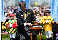 VRC Chairman with the Cup<br /> VRC Spring Racing Carnival <br /> 155th Melbourne Cup / Race 7<br /> Flemington Racecourse / Melbourne <br /> Australia  Tuesday3rd November 2015<br /> &copy; Sport the library / Courtney Crow
