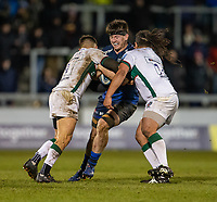 6th March 2020; AJ Bell Stadium, Salford, Lancashire, England; Premiership Rugby, Sale Sharks versus London Irish; Ben Curry of Sale Sharks is tackled