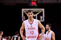 Syria's Abdulwahab Alhamwi in action during the FIBA World Cup Basketball Qualifier - NZ Tall Blacks v Syria at TSB Bank Arena, Wellington, New Zealand on Sunday 2 2018. <br /> Photo by Masanori Udagawa. <br /> www.photowellington.photoshelter.com
