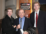 Dick Cavett; Martha Rogers & guest attending the Opening Night Performance of Edward Albee's 'Who's Afraid of Virginia Woolf?' at the Booth Theatre on October 13, 2012 in New York City.