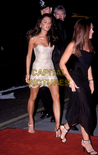 VICTORIA BECKHAM & LOUISE ADAMS.strapless lace mini dress, posh spice.Ref: 007.www.capitalpictures.com.sales@capitalpictures.com.© Capital Pictures
