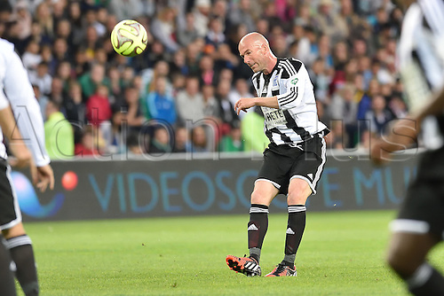 20.04.2015. St Etienne, France. 12th Football Match against Poverty took place in Saint-Etienne, France.  Zinedine Zidane (team Zidane)