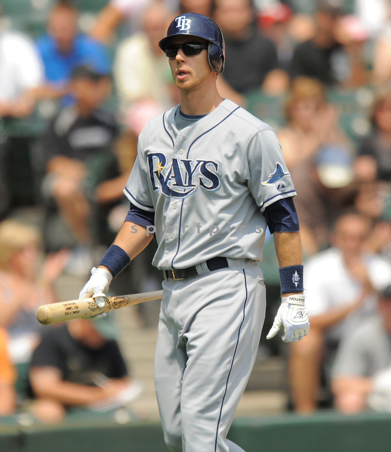 BEN ZOBRIST, of the Tampa Bay Rays in action  during  the Rays game against the Chicago White Sox .  The   White Sox beat the Rays 5-0 in Chicago, Illinois on July 23, 2009...David Durochik / SportPics