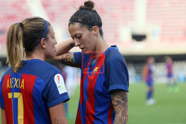 Spanish Women's Football League Iberdrola 2016/17 - Game: 21.<br /> FC Barcelona vs RCD Espanyol: 5-0.<br /> Alexia Putellas &amp; Jennifer Hermoso.