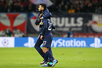 Paulo Gazzaniga of Tottenham Hotspur consoles Lucas of Tottenham Hotspur after RB Leipzig vs Tottenham Hotspur, UEFA Champions League Football at the Red Bull Arena on 10th March 2020