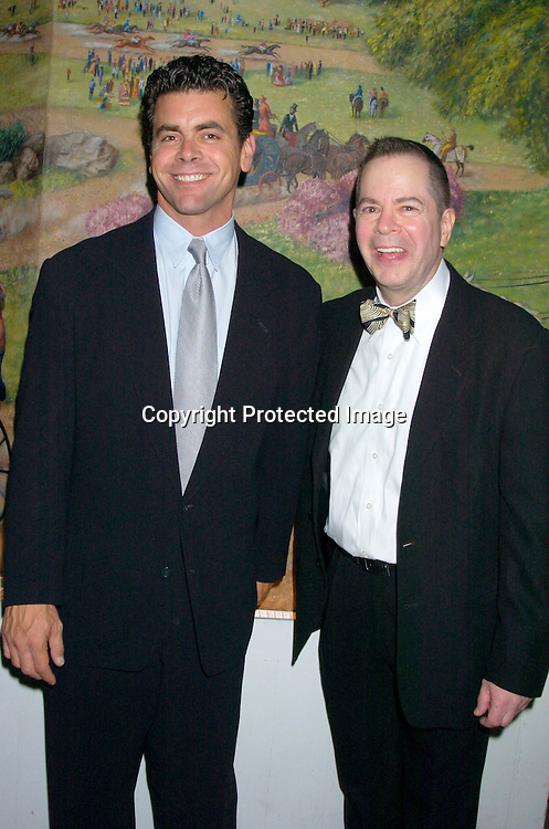 """Burke Moses and Peter Bartlett ..at the opening night party for Lincoln Center's Production of ..""""The Frogs"""" on July 22, 2004 at The Tavern on the Green. ..Photo by Robin Platzer, Twin Images"""