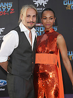 19 April 2017 - Hollywood, California - Zoe Saldana, Marco Perego. Premiere Of Disney And Marvel's &quot;Guardians Of The Galaxy Vol. 2&quot; held at the Dolby Theatre. <br /> CAP/ADM<br /> &copy;ADM/Capital Pictures