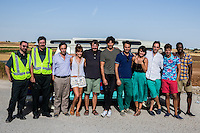 "Spanish actors Diego Paris, Antonio Dechent, Jordi Sanchez,Silvia Alonso, Salva Reina, Andres Velencoso, Alvaro Diaz, Megan Montanier, David Guapo, Eduardo Casanova and Bore Buika during the filming of the movie "" Senor, dame paciencia"" directed by Alvaro Diaz. September 06, 2016. (ALTERPHOTOS/Rodrigo Jimenez) NORTEPHOTO.COM"