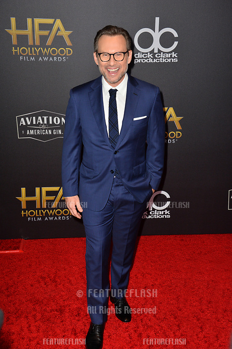 LOS ANGELES, CA. November 04, 2018: Christian Slater at the 22nd Annual Hollywood Film Awards at the Beverly Hilton Hotel.<br /> Picture: Paul Smith/Featureflash