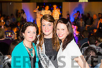 Ms Quirke and Ms Casey with the new Kerry Rose  Julett Culloty at the CBS Primary School Fashion Show at the Ballyroe Heights Hotel on Thursday night