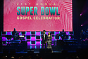 MIAMI, FL - JANUARY 30: DeAndre Hopkins (L) and mother Sabrina Greenlee speak onstage during  the 21st Annual Super Bowl Gospel Celebration at the James L. Knight Center on January 30, 2020 in Miami, Florida.  ( Photo by Johnny Louis / jlnphotography.com )
