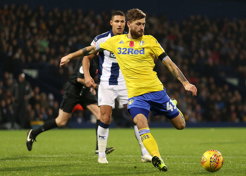 Leeds United's Mateusz Klich shapes up to shoot<br /> <br /> Photographer David Shipman/CameraSport<br /> <br /> The EFL Sky Bet Championship - West Bromwich Albion v Leeds United - Saturday 10th November 2018 - The Hawthorns - West Bromwich<br /> <br /> World Copyright © 2018 CameraSport. All rights reserved. 43 Linden Ave. Countesthorpe. Leicester. England. LE8 5PG - Tel: +44 (0) 116 277 4147 - admin@camerasport.com - www.camerasport.com