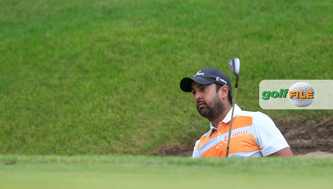 Shiv KAPUR (IND) during round 2 of the 2015 BMW PGA Championship over the West Course at Wentworth, Virgina Water, London. 22/05/2015<br /> Picture Fran Caffrey, www.golffile.ie: