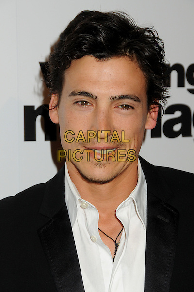 "ANDREW KEEGAN.Premiere of ""Love, Wedding, Marriage"" held at The Pacific Design Center in Beverly Hills, California, USA..May 17th, 2011.headshot portrait white black .CAP/ADM/BP.©Byron Purvis/AdMedia/Capital Pictures."