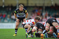 Jonathan Evans of Bath Rugby looks on. West Country Challenge Cup match, between Gloucester Rugby and Bath Rugby on September 13, 2015 at the Memorial Stadium in Bristol, England. Photo by: Patrick Khachfe / Onside Images