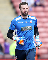 Bolton Wanderers' Mark Howard during the pre-match warm-up <br /> <br /> Photographer Rachel Holborn/CameraSport<br /> <br /> The EFL Sky Bet Championship - Barnsley v Bolton Wanderers - Saturday 14th April 2018 - Oakwell - Barnsley<br /> <br /> World Copyright &copy; 2018 CameraSport. All rights reserved. 43 Linden Ave. Countesthorpe. Leicester. England. LE8 5PG - Tel: +44 (0) 116 277 4147 - admin@camerasport.com - www.camerasport.com