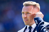 Cardiff City youth coach and television pundit Craig Bellamy ahead of the Sky Bet Championship match between Cardiff City and Reading at the Cardiff City Stadium, Cardiff, Wales on 6 May 2018. Photo by Mark  Hawkins / PRiME Media Images.
