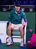 Rotterdam, The Netherlands, 12 Februari 2019, ABNAMRO World Tennis Tournament, Ahoy, first round singles: Kei Nishikori (JPN),<br /> Photo: www.tennisimages.com/Henk Koster