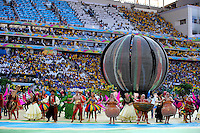 A general view of the opening ceremony of the 2014 FIFA World Cup
