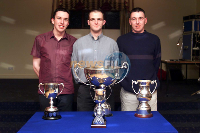 Team members Jack Barry, Kenny McDonnel and Neill Barry at the Duleek GFC dinner dance..Picture:Newsfile
