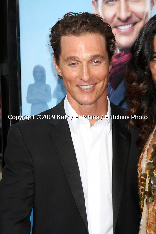 """Matthew McConaughey  arrivng at the """"Ghosts of Girlfriends Past"""" Premiere at Grauman's Chinese Theater in Los Angeles, CA on April 27, 2009.©2009 Kathy Hutchins / Hutchins Photo....                ."""