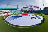 Jacksonville, FL - Thursday, April 05, 2018: Center Circle prior to a friendly match between USA and Mexico at EverBank Stadium.