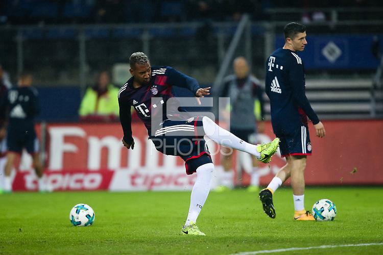 Football: Germany, 1. Bundesliga, Hamburger SV (HSV) vs FC Bayern Muenchen (FCB), Hamburg, 21.10.2017,<br /> Jerome Boateng (FCB) *** Local Caption *** <br /> Contact: +49-40-22 63 02 60 , info@pixathlon.de