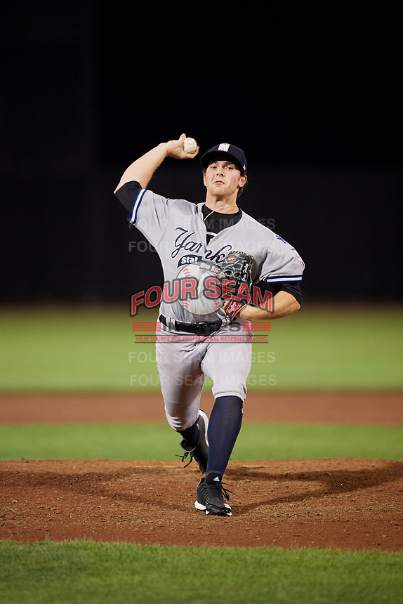 Staten Island Yankees relief pitcher Drew Finley (51) delivers a pitch during a game against the Aberdeen IronBirds on August 23, 2018 at Leidos Field at Ripken Stadium in Aberdeen, Maryland.  Aberdeen defeated Staten Island 6-2.  (Mike Janes/Four Seam Images)