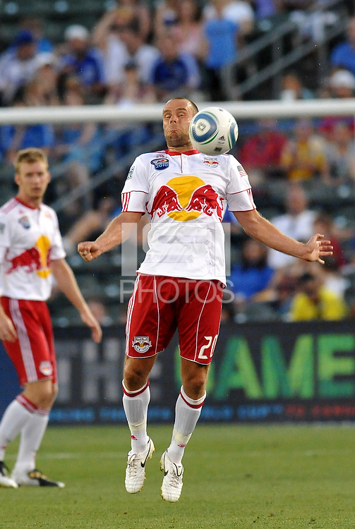 Joel Lindpere...Kansas City Wizards were defeated 3-0 by New York Red Bulls at Community America Ballpark, Kansas City, Kansas.