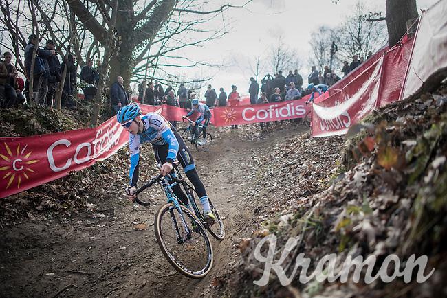 Michael Vanthourenhout (BEL/Marlux-NapoleonGames) during recon<br /> <br /> men's race<br /> CX Soudal Classics Leuven/Belgium 2017