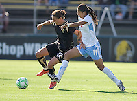 Christine Sinclair (12) and Cristiane (11) fight for control of the ball. FC Gold Pride and Chicago Red Stars tied 1-1 at Buck Shaw Stadium in Santa Clara, California on June 7, 2009.