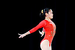 Yurika Yumoto (JPN), <br /> AUGUST 21, 2018 - Artistic Gymnastics : <br /> Women's Individual All-Around Floor Exercise <br /> at JIEX Kemayoran Hall D <br /> during the 2018 Jakarta Palembang Asian Games <br /> in Jakarta, Indonesia. <br /> (Photo by Naoki Nishimura/AFLO SPORT)