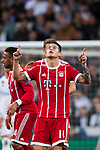 James Rodriguez of FC Bayern Munich celebrates his scoring their team's second goal during the UEFA Champions League Semi-final 2nd leg match between Real Madrid and Bayern Munich at the Estadio Santiago Bernabeu on May 01 2018 in Madrid, Spain. Photo by Diego Souto / Power Sport Images