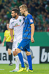 10.08.2019, wohninvest Weserstadion, Bremen, GER, DFB-Pokal, 1. Runde, SV Atlas Delmenhorst vs SV Werder Bremen<br /> <br /> DFB REGULATIONS PROHIBIT ANY USE OF PHOTOGRAPHS AS IMAGE SEQUENCES AND/OR QUASI-VIDEO.<br /> <br /> im Bild / picture shows<br /> <br /> Claudio Pizarro (Werder Bremen #14)<br /> Karlis Plendiskis (SV Atlas Delmenhorst #05)<br /> Foto © nordphoto / Kokenge