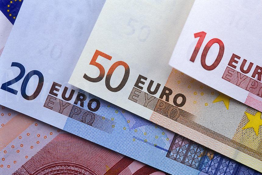 Euro bills.