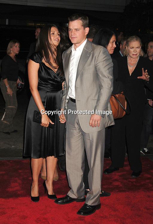 8568 Matt Damon And Wifejpg Robin Platzertwin Images