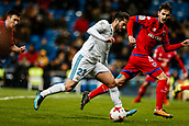 10th January 2018, Santiago Bernabeu, Madrid, Spain; Copa del Rey football, round of 16, 2nd leg, Real Madrid versus Numancia; Francisco Alarcon (Real Madrid) breaks into the box with the ball