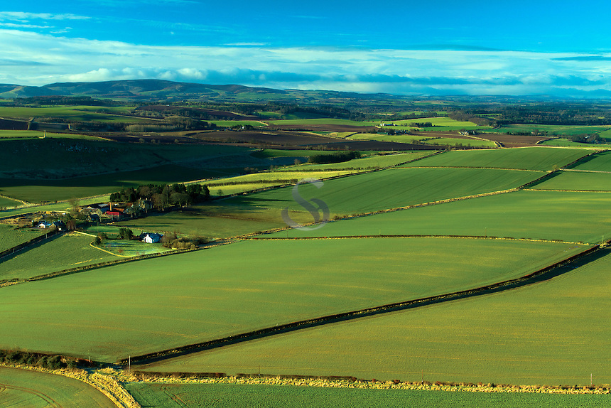 The Lammermuir Hills and the East Lothian Countryside from Traprain Law, East Lothian