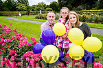 Rose of Tralee Elysha Brennan will take to the sky in a hot air balloon on Sunday of the Rose of Tralee festival and balloons will also be release with her to raise funds for the Kerry Palliative Care in patient unit. The event is in memory of Helen O'Connor, pictured are Helen's husband and children, Kevin Roche, Ciara Marie O'Connor Roche and Carrie O'Connor.