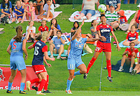 Boyds, MD - Saturday July 09, 2016: Sofia Huerta, Estelle Johnson during a regular season National Women's Soccer League (NWSL) match between the Washington Spirit and the Chicago Red Stars at Maureen Hendricks Field, Maryland SoccerPlex.
