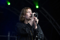 Fickle Friends perform at AmpRocks 2016 before the power blew and brought an end to their performance at Ampthill Great Park, Ampthill, England on 30 June 2016. Photo by David Horn.